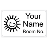 Large White ONCE® Iron On Clothing Name Tags