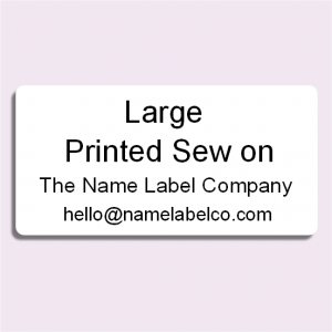 Large Printed Sew On Name Tag