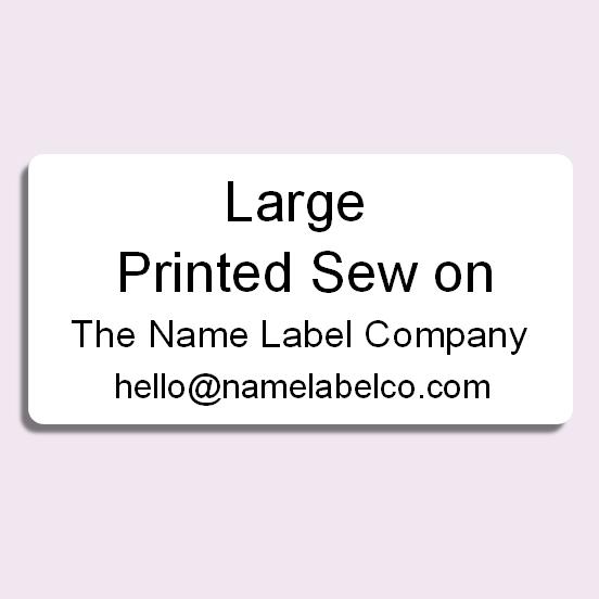 Large Printed Sew On Name Tag