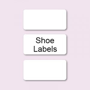 Stick on Shoe Vinyl labels (White Rectangular design)