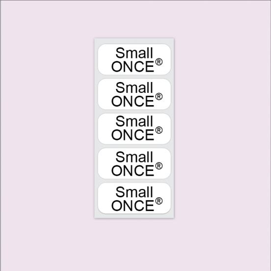 Small ONCE® Iron On Clothing Name Tags